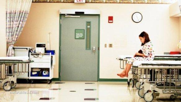 Girl-Sick-Patient-Waiting-Hospital-Room